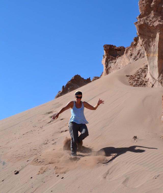 Sand dunes Cordillera de la sal
