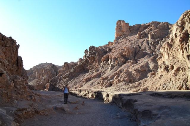 Canyons in the Valle de la Luna