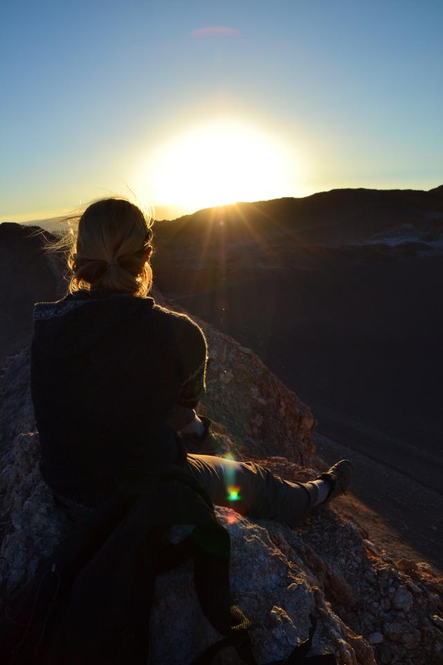Sunset at the Valley de La Luna