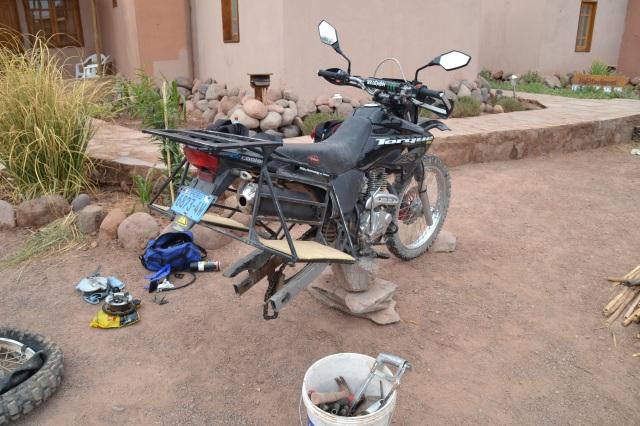 Removing a bike wheel