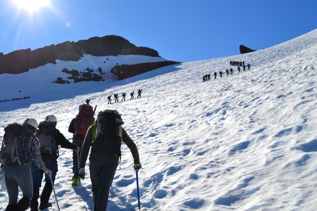 The first section of the ascent